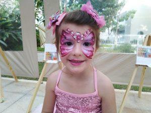 pintura facial borboleta