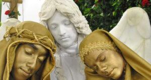 Estátuismo Presépio Vivo Anjo Miguel Maria e José